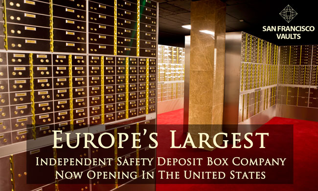 SAFETY DEPOSIT BOX FACILITY SAN FRANSICSO VAULTS